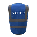 GOGO VISITOR Safety Vest, 8 Pockets High Visibility Zipper Front Safety Vest With Reflective Strips
