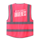 GOGO Hot Pink 7 Pockets High Visibility Zipper Front Safety Vest for Breast Cancer Awareness