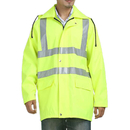 GOGO Safety Rain Jacket ANSI Waterproof Lightweight Reflective Wind Breaker