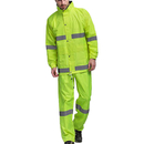 GOGO High Visibility Waterproof Safety Rainsuit, ANSI Safety Jacket with Pants
