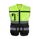 GOGO Hi-Vis Construction Work Surveyor Vest, Multi Pockets Safety Vest