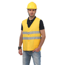 GOGO Uniform Unisex Button Safety Vest For Supermarket Volunteer Security