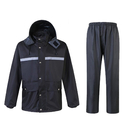 GOGO Rain Coat Waterproof Breathable Rain Suit with Reflective Stripes, Rain Jacket with Pants