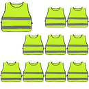 GOGO 10 Pack Kids Adjustable Reflective Vests for Outdoor Night Activities Construction Costume