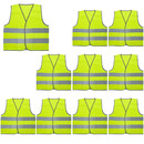 GOGO 10 Pack High Visibility Kids Safety Vest for Construction Costume, Fits Age from 3 to 15