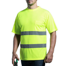 GOGO Hi Vis ANSI Class 3 T Shirt Reflective Safety Short Sleeve with Pocket