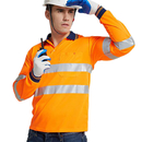 GOGO Two Tone Hi Vis Polo Shirt Safety Workwear with Reflective Stripes