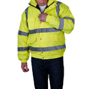 GOGO Men's High Visibility Waterproof Bomber Safety Jacket with Quilted Lining