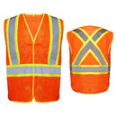 GOGO High Visibility Two Tone 5-Points Breakaway Mesh Safety Vest with Inside Pockets, Reflective Back Cross Strips