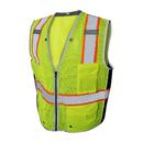 GOGO 9 Pockets High Visibility Reflective Safety Vest Heavy Duty Mesh with Zipper, Construction Work Vest