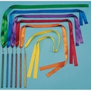 "Rhythm Band Instruments RB3002 Set of 6 72"" Ribbon Wands"