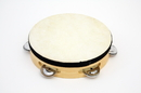 "Rhythm Band Instruments RB525 7"" Tambourine RBI Wood Tambourine with - 5 (pr) Jingles."