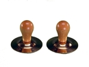 Rhythm Band Instruments RB785 Brass Finger Cymbals with Wood Knobs (pr)