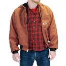 ROUND HOUSE 1800 American Made Brown Duck Jacket Hooded 12 oz.
