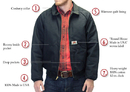 ROUND HOUSE American Made Jacket Black Duck Traditional 12 oz. Jacket