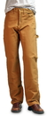 ROUND HOUSE Brown Duck Double Front Dungarees (12 oz. full dbl knees)