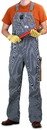 ROUND HOUSE Men's Hickory Stripe Denim Bib Overalls (11 oz. denim)