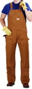 ROUND HOUSE Men's Brown Duck  Bib Overalls (12 oz. - full double knees)