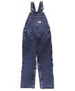 ROUND HOUSE Men's Button Fly Blue Denim Bib Overalls (12 oz. denim)