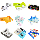 1000 Pcs Custom Header Cards Bulk Personalized Folded Bag Toppers for Socks Hat Food Color Printing