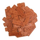100 Pcs Leather Sewing Labels PU Garment Fabric Tag for Handmade Crafts Bags Toys