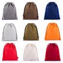 10 Pcs Cotton Drawstring Bags Muslin Bags Pouch Multi Color Dustproof Bag Covers
