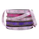 100 Yards Custom Gold Edge Satin Ribbon Personalized Metallic Ribbon