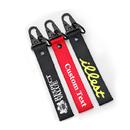 2 Pcs Custom Nylon Keychain Personalized Luggage Tag Printed Label Lanyards Strap for Car Bag