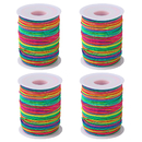 Rainbow Color Elastic Cord 1mm Beading Thread Stretch String for Sewing Beaded Handicrafts