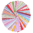 50 Pcs Cotton Fabric for Sewing DIY Material Cloth Printed Floral Handicrafts Home Decoration Quilting Patchwork 9.8