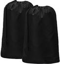 2 Pcs Nylon Laundry Bag Drawstring Travel Washing Beam Storage Bag for Dirty Clothing College