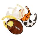 GOGO Baby Boy Sports Ball Bibs, Cute Ball Bib, 1 Pc, Adjustable Closure, 3 Layers Water Resistant Bib, Soccer, Basketball