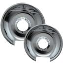 Range Kleen 10342X Style E 2-Pack Heavy Duty Chrome Drip Pans