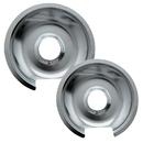 Range Kleen 10562X Style D 2-Pack Heavy Duty Chrome Drip Pans