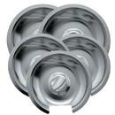 Range Kleen 10565X Style D 5-Pack Heavy Duty Chrome Drip Pans