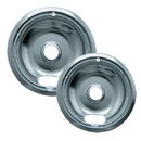 Range Kleen 12562X Style A 2-Pack Economy Plated Drip Bowls