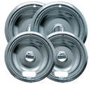 Range Kleen 12564XH Style A 4-Pack Economy Plated Drip Bowls 2 Small/2 Large