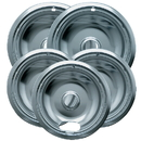 Range Kleen 12565X Style A 5-Pack Economy Plated Drip Bowls