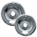 Range Kleen 12782XCD5 Style A 2-Pack Heavy Duty Chrome Drip Bowls