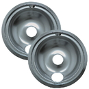 Range Kleen 139402XCD5 Style B 2-Pack Heavy Duty Chrome Drip Bowls