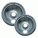 Range Kleen 16672X Style B 2-Pack Economy Plated Drip Bowls