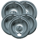 Range Kleen 16675X Style B 5-Pack Economy Plated Drip Bowls