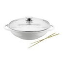 Berndes 632139 Vario Click Pearl Ceramic Induction 13.5 Inch Wok with Glass Lid