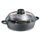 Berndes 674045 Tradition 2.5 Quart Sauté Casserole Pan with Glass Lid and Thermo Grips