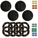 Range Kleen 8114 Universal 4 Pack Black Replacement Knob Kit Electric Stove/Range