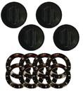 Range Kleen 8114 Universal 4 Pack Black Replacement Knob Kit Electric Stove/Range