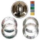 Range Kleen 8121 Universal 1 Pack Chrome Replacement Knob Kit - Electric Stove/Range
