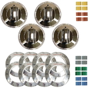 Range Kleen 8124 Universal 4 Pack Chrome Replacement Knob Kit Electric Stove/Range