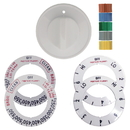 Range Kleen 8131 Universal 1 Pack White Replacement Knob Kit Electric Stove/Range