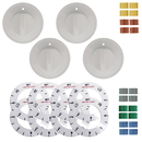 Range Kleen 8134 Universal 4 Pack White Replacement Knob Kit - Electric Stove/Range